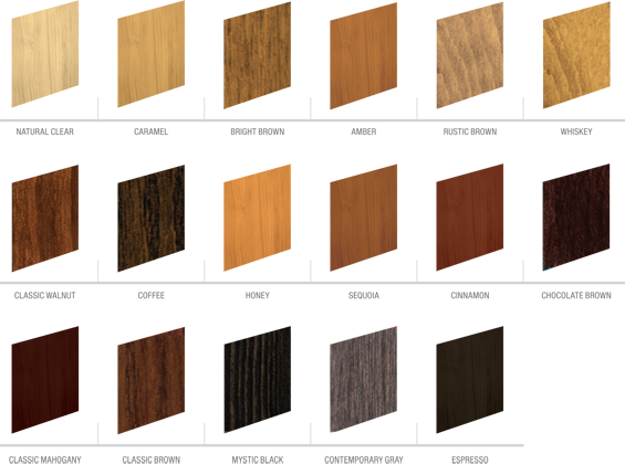Wood window finish martin industries - Couleur de teinture pour patio ...